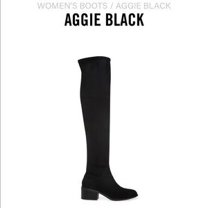 Steve Madden over the knee Aggie boots.